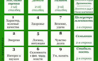 Квадрат Пифагора в нумерологии: как правильно произвести расчет квадрата по дате рождения