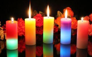 Особенности и значение свечей по их цвету при проведении ритуалов