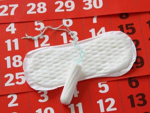 прокладка и тампон на календаре