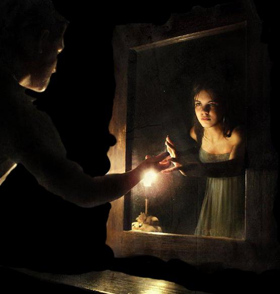приворот ночью около зеркала