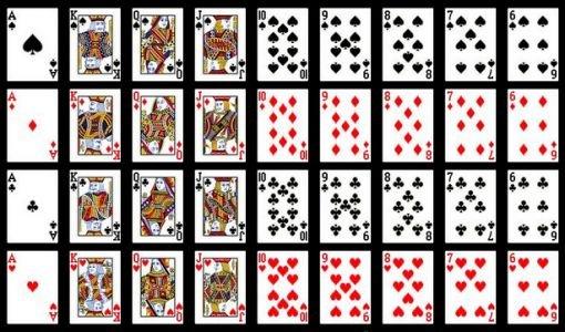 36 игральных карт