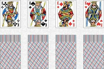 Схема гадания на 4-х королей