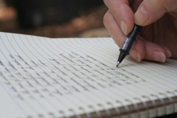 ручка и листик