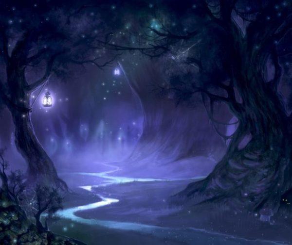 вечером в лесу