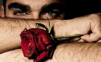 мальчик с розой
